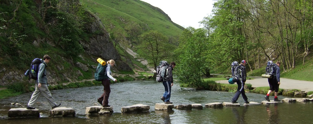 Duke of Edinburgh Award Expeditions crossing a river