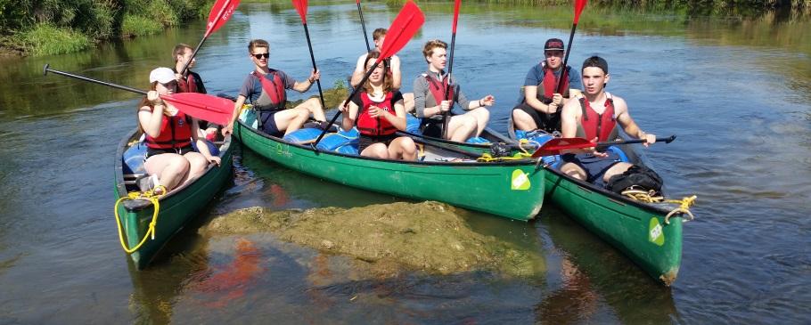 Duke of Edinburgh Award Expeditions Canoeing River Severn