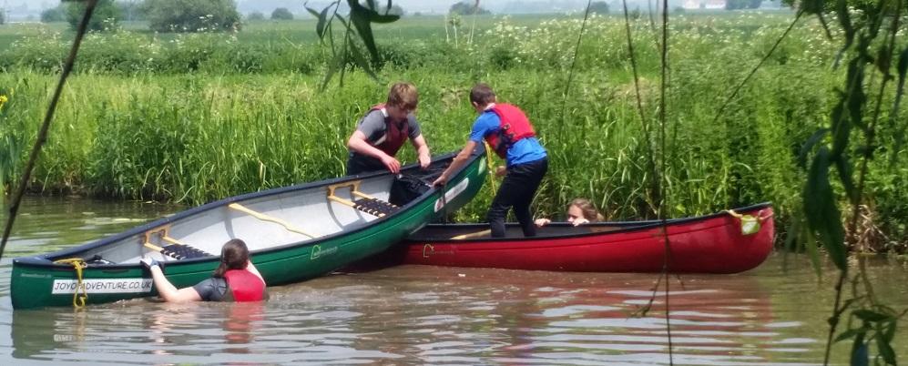 Duke of Edinburgh Award Expeditions Canoe rescue skills