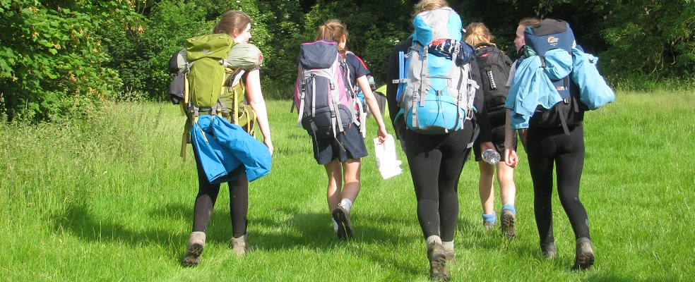 Duke of Edinburgh Award Expeditions Bronze girls walking