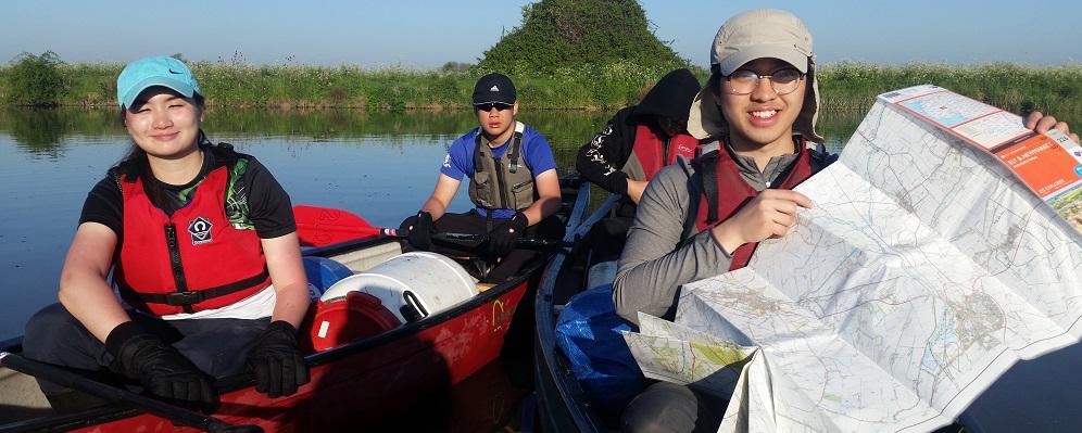 Duke of Edinburgh Award Expeditions Canoe navigation