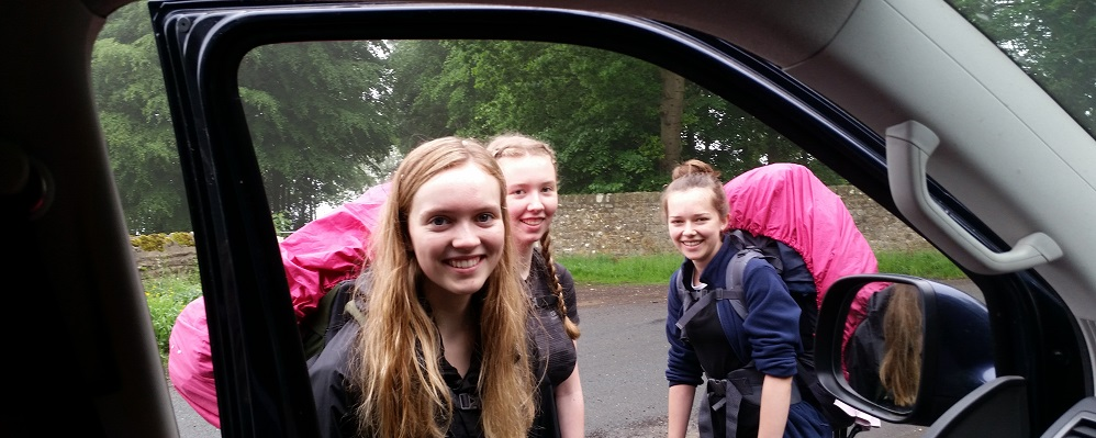 Duke of Edinburgh Award Expeditions  Girls check point