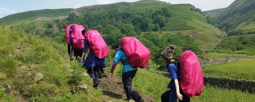 Duke of Edinburgh Award Expeditions packed bags