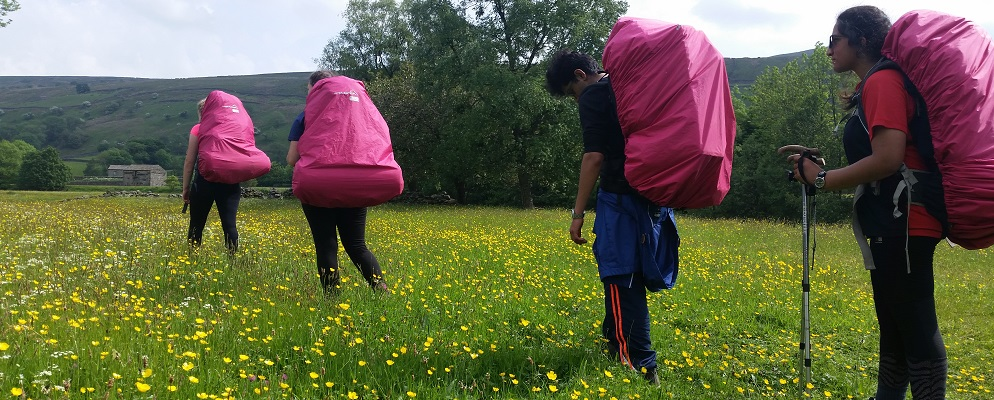 Duke of Edinburgh Award Expeditions Pink ruc sacs